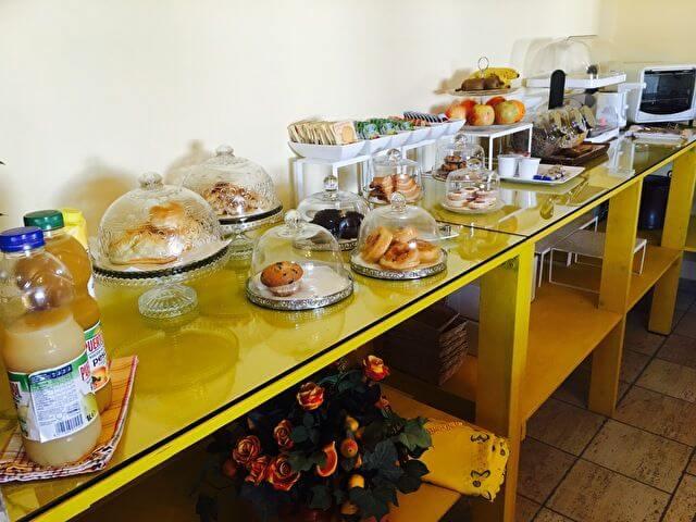 イタリアのホテルの無料朝食